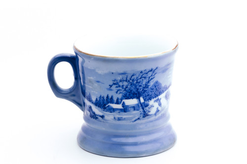 The Homestead in Winter Currier & Ives Shave Mug