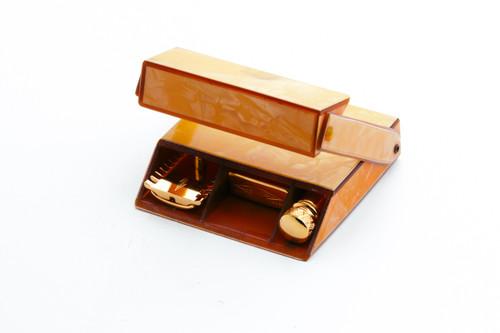 1920's Gillette Milady Decollete DE Safety Razor Set 24K Gold Revamp