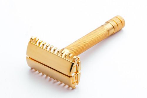 1939 Gillette Sheraton Open Comb Double Edge Razor 24K Gold Revamp