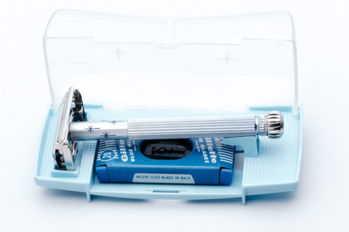 1963 Gillette Blue Star I3 Lady Gillette Double Edge Safety Razor