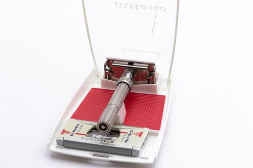 1965 Gillette Slim Adjustable Double Edge Safety Razor Set K3