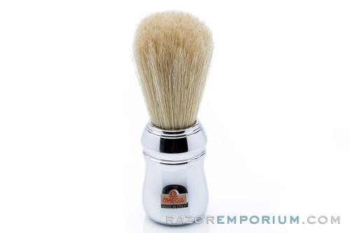 Omega Chrome Boar Bristle Shaving Brush