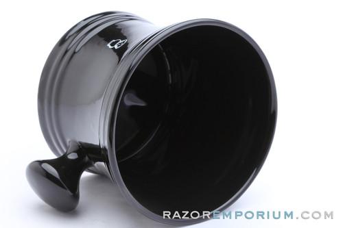 Jumbo Barbershop Style Shaving Mug   Black
