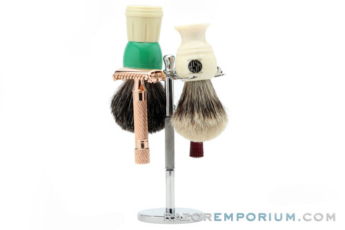 Four Piece Brush & Razor Stand | Stainless