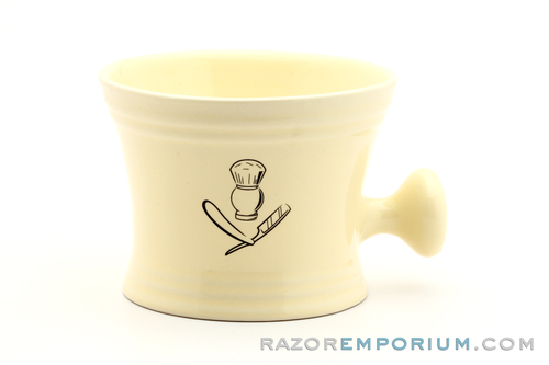 Jumbo Barbershop Style Shaving Mug | Cream