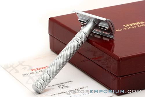 Feather All Stainless Steel Double Edge Safety Razor Set | AS-D2