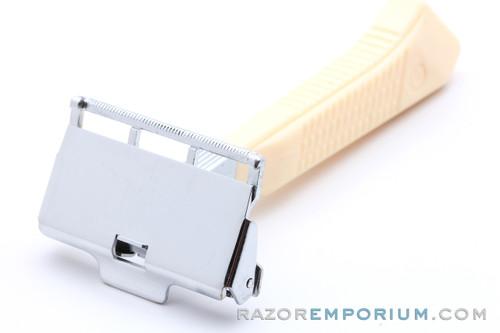 1940s Gem G-Bar Single Edge Razor w/ Cream Handle