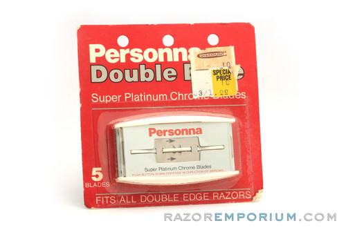 Personna Double Edge Super Platinum Chrome  (5) - New Old Stock (NOS) Razor Blades