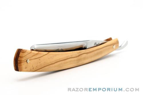 "6/8"" Ralf Aust Spanish Tip Olive Wood Scale Straight Razor - Shave Ready"