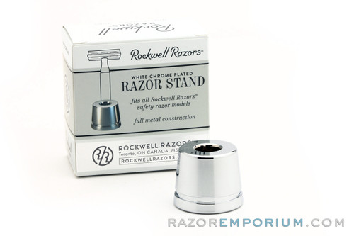 Rockwell White Chrome Safety Razor Stand
