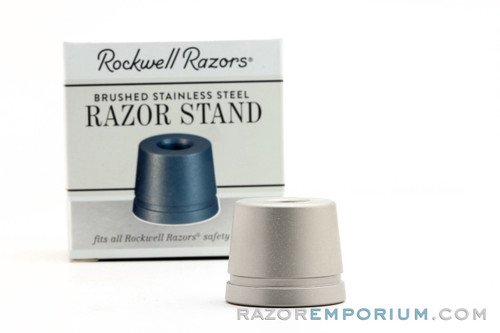 Rockwell Brushed Stainless Steel Safety Razor Stand