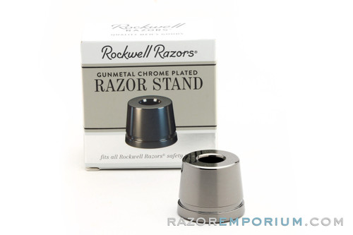 Rockwell Gun Metal Chrome Safety Razor Stand