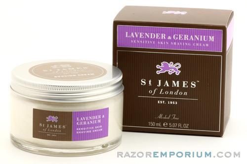 St. James of London Lavender & Geranium Shaving Cream Jar