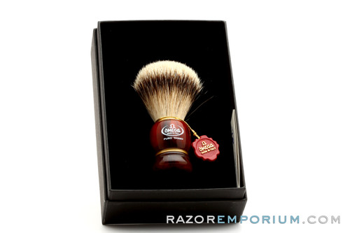 Omega 636 Silvertip Badger Shave Brush
