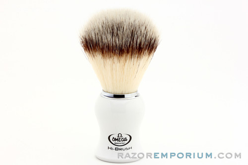 Omega 0146745 HI-BRUSH Synthetic Shaving Brush