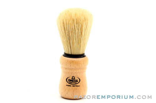 Omega 10005 Beech Wood Handle Boar Shaving Brush