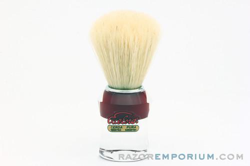 Semogue 610 Red Pure Boar Bristle Brush in Acrylic Handle