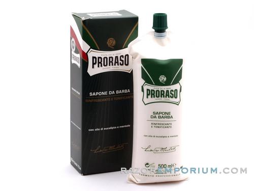 Proraso Shaving Cream | Jumbo Green Refresh Eucalyptus & Menthol In Tube 500ml