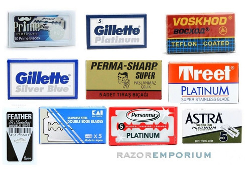 Double Edge Safety Razor Blades Sample Pack - Top 10