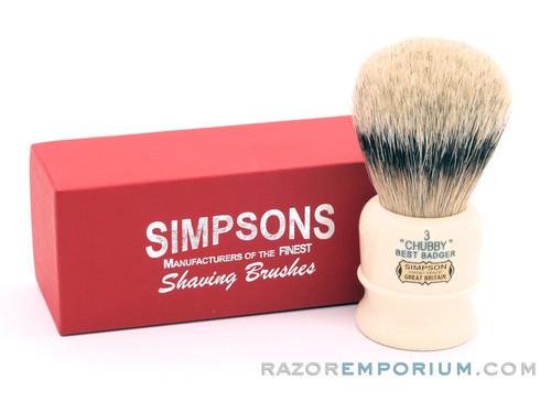Simpsons Chubby 3 Best Badger Shaving Brush