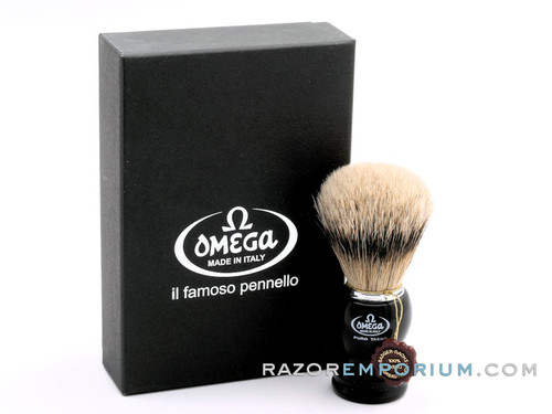 Omega 618 Super Badger Shaving Brush - Black