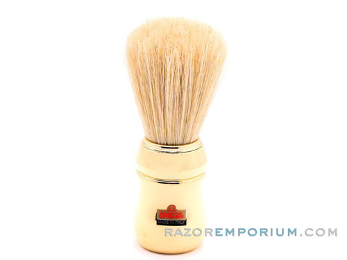 Omega 20480 Pure Bristle Shaving Brush - Gold