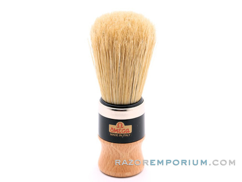 Omega 20102 Wood Handle Boar Bristle Shaving Brush