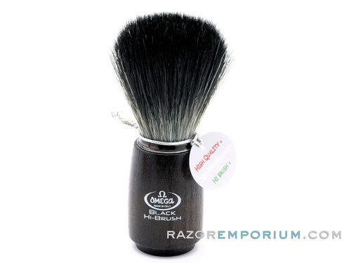 Omega 0196712 HI-BRUSH Synthetic Shaving Brush