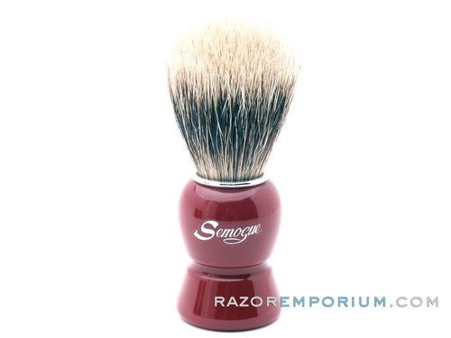 Semogue Galahad-C3 Finest Badger Shaving Brush (Imperial Red)