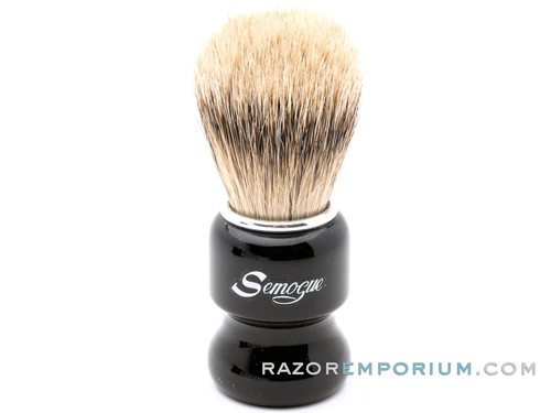 Semogue Torga-C5 Texugo Silvertip Badger Shaving Brush (Jet Black)