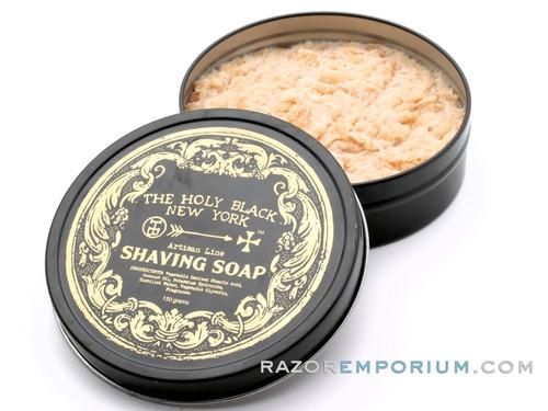 The Holy Black Artisan Line Shaving Soap - Gunpowder Spice