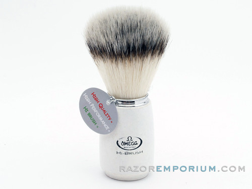 Omega 46711 HI-BRUSH Synthetic Shaving Wood Brush