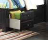 Mallowsea Bookcase Storage Bed Full Size Black | Acme Furniture | ACM-30385F