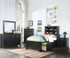 Mallowsea Bookcase Storage Bed Full Size Black | 23656 | ACM-30385F