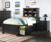Mallowsea Bookcase Storage Bed Twin Size Black | Acme Furniture | ACM-30390T