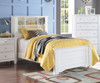 Mallowsea Bookcase Bed Full Size White | Acme Furniture | ACM-30405F