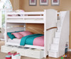 Allen House Chelsea Full over Full Bunk Bed with Stairs White | Allen House | AH-A-FF-01-STR-T-A