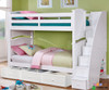 Allen House Chelsea Bunk Bed with Stairs White | Allen House | AH-A-TT-01-STR-T-A