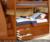 Allen House Chatham Twin over Full Bunk Bed with Stairs White | Allen House | AH-BB-TF-01-STR-T-BB