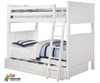 Allen House Brandon Full over Full Bunk Bed White | Allen House | AH-J-FF-01