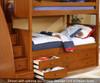 Allen House Brandon Twin over Full Bunk Bed Espresso | Allen House | AH-J-TF-06