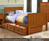 Allen House Brandon Twin over Full Bunk Bed with Stairs Espresso | Allen House | AH-J-TF-06-STR-T-J