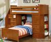 Allen House Student Loft Bed with Stairs White | 23746 | AH-SL-TT-01-STR