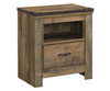 Trinell 1 Drawer Nightstand | Ashley Furniture | ASB446-91