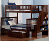 Woodland Stair Bunk Bed Twin over Full Antique Walnut   24069   ATL-AB56704