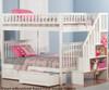 Woodland Stair Bunk Bed Full over Full White | 24071 | ATL-AB56802