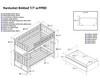 Nantucket Bunk Bed Antique Walnut | Atlantic Furniture | ATL-AB59104