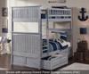 Nantucket Bunk Bed Driftwood Grey | Atlantic Furniture | ATL-AB59108