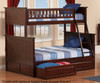 Nantucket Bunk Bed Twin over Full Antique Walnut | 24079 | ATL-AB59204