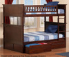 Nantucket Bunk Bed Full over Full Antique Walnut | Atlantic Furniture | ATL-AB59504